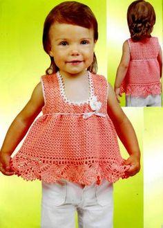 Peach Toddler Top free crochet graph pattern