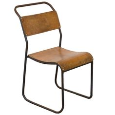 Set of Early Cox for PEL Tubular Side Chairs | See more antique and modern Chairs at https://www.1stdibs.com/furniture/seating/chairs