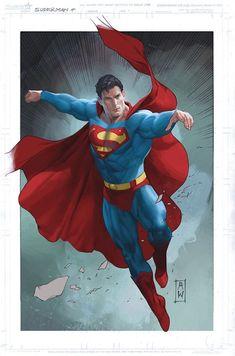 ✧ DC Comics : Superman (Superman - Man of Steel) By: Admira Wijaya. Arte Do Superman, Superman Artwork, Superman Wallpaper, Batman Vs Superman, Superman Stuff, Superman Family, Marvel Comics, Hero Marvel, Dc Comics Art