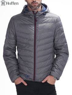 Camping & Hiking Down Mens Ultra Light Portable White Duck Hiking Down Jacket Sports Travel Camping Hooded Jacket Thermal For Autumn & Winter
