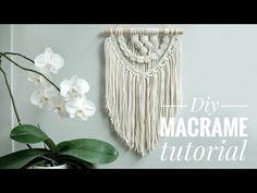 DIY Easy Macrame Wall Hanging tutorial - Jak zrobić makramę - krok po kroku. - YouTube Macrame Tutorial, Macrame Patterns, Diy Wall, Dream Catcher, Easy Diy, Boho, Youtube, Craft Ideas, Leaves