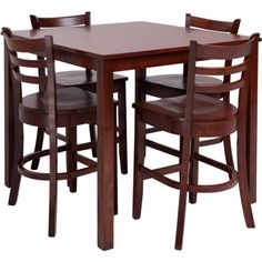 Winsome Wood Orlando 3 Piece Set High Table, 2 Shelves with 2 V-Back Counter Stools High Table Set, Bar Table Sets, Patio Bar Set, Large Table, A Table, Table Legs, Pub Tables, Dining Tables, 3 Piece Dining Set