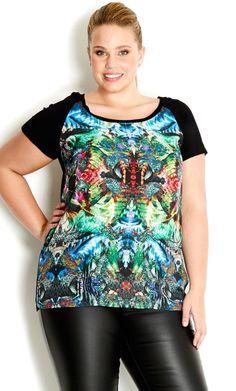 City Chic - JEWEL BLOSSOM TOP  - Women's Plus Size Fashion #citychic #citychiconline #newarrivals #plussize