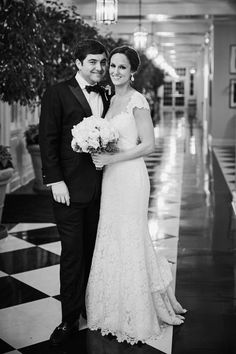 The Black & White Hall ~ Caroline + Quin | Wedding Photo By Katie Dickson Photography