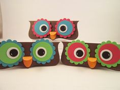 Owl Party Favor Topper by TreasuredCollections on Etsy