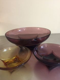 A personal favorite from my Etsy shop https://www.etsy.com/listing/268312377/hazel-atlas-glass-bowls-set-of-3