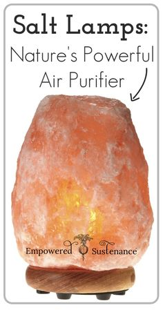 Salt lamps are prized for their negative ion production. ...beeswax candles, another natural air purifier. Pollen, dust, dirt, pollutants, and allergens in the air all carry a positive charge, and that is how they can be suspended in the air. The negative ions neutralize these positive ions so they can no longer be airborne.