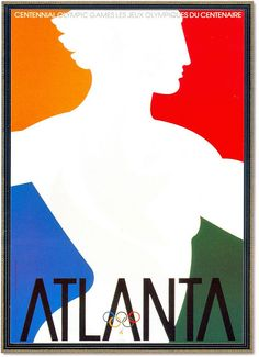 An Olympic Games Poster Atlanta 1996.