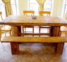 Farmhouse Table & Bench.