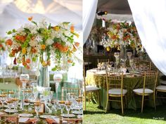 Stunning tent Wedding in Rancho Santa Fe
