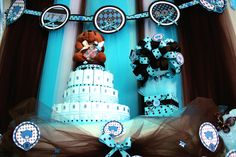 Maple C's Baby Shower / Brown & Blue Teddy Bear Theme - Photo Gallery at Catch My Party Baby Shower Parties, Baby Shower Themes, Shower Party, Shower Ideas, Blue Teddy Bear, Teddy Bears, Teddy Bear Baby Shower, Bear Theme, Themes Photo