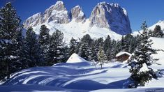 View to the Sassolungo group in Val Gardena Winter Cabin, Places In Italy, Scenery Wallpaper, Desktop Pictures, Winter Pictures, Big Waves, Going Home, Beautiful Places, Just For You