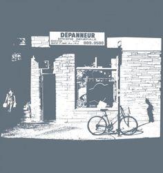 Beaux (homme, femme et enfants) t-shirts fait au USA, conçu et imprimé à Montréal.