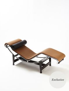 Le Corbusier Chaise by Cassina - loving the camel color