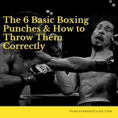 The 6 Basic Boxing Punches & How to Throw Them Correctly - Healty fitness home cleaning Boxer Workout, Boxing Training Workout, Home Boxing Workout, 300 Workout, Combat Training, Agility Training, Boxing Techniques, Martial Arts Techniques, Self Defense Techniques
