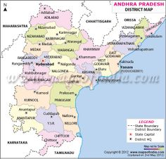 Andhra Pradesh Map | Favorite Places & Spaces | Pinterest | India ...