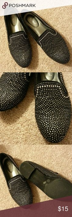 🔥LimeLight rhinestone loafers Excellent condition. There's a few missing rhinestones on the inside of the left shoe but not noticeable at all. limelight Shoes Flats & Loafers