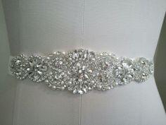 Wedding Sash Belt, Bridal Sash Belt - Crystal Pearl Sash Belt