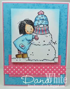 Valerie and her Snowman - image from Stamping Bella