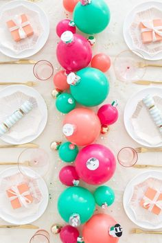 Whimsical Christmas Tablescapes & Centerpieces — Ravishing in Plaid - Brittany Burke Whimsical Christmas, Pink Christmas, Christmas And New Year, All Things Christmas, Christmas Holidays, Christmas Crafts, Christmas Design, Xmas, Christmas Colors
