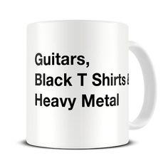 MG042 Magoo Guitar & Heavy Metal Essentials MUG - gift for heavy metal fan: Amazon.co.uk: Kitchen & Home