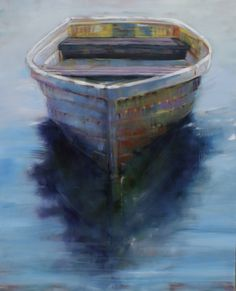 """""""All I need is You and a Rowboat"""" 40x60 Oil"""