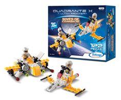 0556.5 - Blocos de Encaixe Quadrante X A Última Fronteira Naves de Combate   Contém 122 peças.  Faixa Etária: +6 anos   Jogos e Brinquedos   Xalingo Brinquedos   Crianças