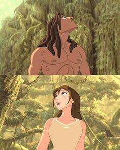 Disney's Tarzan - Tarzan and Jane, A Wondrous Place Disney Pixar, Tarzan Disney, Disney Princes, Disney And Dreamworks, Disney Animation, Animation Film, Disney Art, Disney Characters, Disney And More