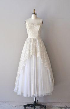Remember Forever dress vintage 1950s wedding dress by DearGolden