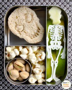 Spooky Skull/Skeleton Lunch Idea
