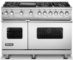 """VGSC548-8BSS Viking 48"""" Custom Pro Style Sealed Burner Self-Cleaning Range with 8 Burners - Stainless Steel"""