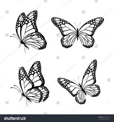 Half Sleeve Tattoos For Women: Butterfly Tattoos for Women - Half Sleeve Tattoo. - Half Sleeve Tattoos For Women: Butterfly Tattoos for Women – Half Sleeve Tattoos For Women: Butt - Butterfly Sketch, Butterfly Photos, Butterfly Art, Monarch Butterfly, Butterfly Outline Images, Butterfly Stencil, Simple Butterfly, Butterfly Design, Illustration Papillon