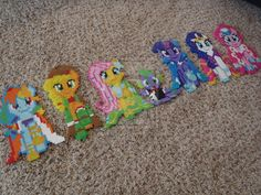 My Little Ponies- At the Gala perler beads by momodory09 on deviantart