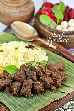 Beef Rendang, an aromatic caramelized beef curry traditionally served during festive occasions. Make it at home with detailed instructions in the video.| Roti n Rice