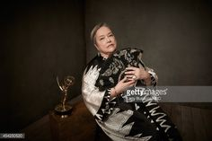 66th ANNUAL PRIMETIME EMMY AWARDS -- Pictured: Actress Kathy Bates from 'American Horror Story: Coven' poses in the NBC/People photo booth during the 66th Annual Primetime Emmy Awards held at the...