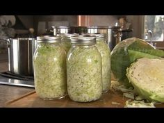 How to Make Sauerkraut | P. Allen Smith Cooking Classics. a different version, but sounds interesting and not stinky in the process of fermenting.