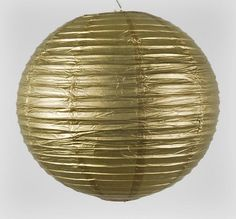 Gold Paper Lantern 20in