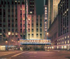 "Franck Bohbot (photographe) - New York radio city - ""NY Light On"" série"