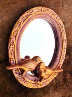 Espelho Pássaros Romantique