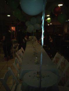 Baby safari theme party tables