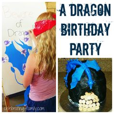 Dragon Birthday Party Ideas from Celebrating Family (easy, affordable,fun)
