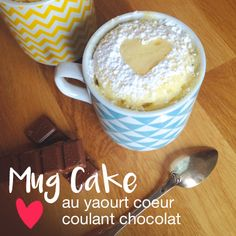 Recette : mug cake au yaourt et coeur coulant au chocolat