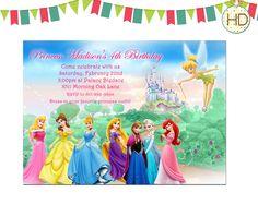 A personal favorite from my Etsy shop https://www.etsy.com/listing/245704289/disney-princess-invitation-princess