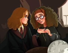 Hermione Granger and Sybill Trelawney