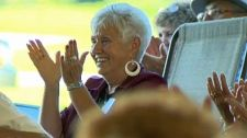 A retired school teacher is the inspiration behind the biggest gospel music jamboree in southern Alberta and is the CTV Calgary Inspiring Albertan this week. Her World, Gospel Music, School Teacher, Volunteers, Calgary, Singers, Stage, The Past, Southern