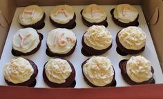 Sweet 16 Birthday  Red Velvet cupcakes with a cream cheese frosting