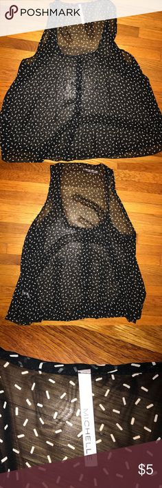 Sheer black tank top Sheer black tank top. Very see through so you will probably need a cami underneath Tops Tank Tops