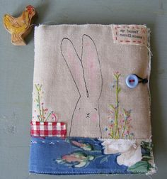 A beautiful hand embroidered needle case @viv @ hens teeth.