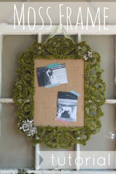 Bee of Good Cheer: {Tutorial} Moss Covered Frame....created by my crafty daughter, Brittany!