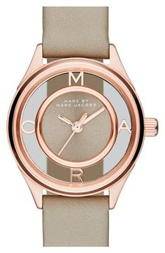 MARC BY MARC JACOBS 'Tether' Skeleton Leather Strap Watch, 25mm available at #Nordstrom